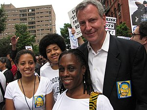 Chirlane McCray - McCray with spouse, Bill de Blasio, and their two children.