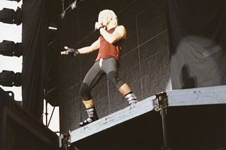 Billy Idol - Idol performing at the Milton Keynes Bowl, 1993