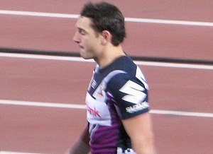 Billy Slater - Slater leaving the field following the pre-match warm up