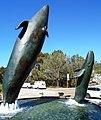 Birch Aquarium breaching whales fountain 1.jpg