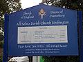 Birchington All Saints Church 10 - Sign board.jpg