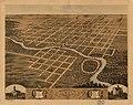 Bird's eye view of the city of Pontiac, Livingston County, Illinois 1869. LOC 73693369.jpg