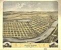 Bird's eye view of the city of Saint Cloud, Stearns County, Minnesota 1869. LOC 73693463.jpg