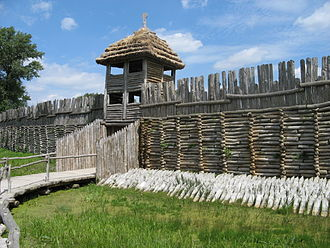 Poland - Reconstruction of a Bronze Age, Lusatian culture settlement in Biskupin, c. 700 BC