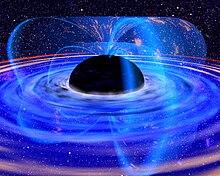 """Vitezele particulelor si corpurilor în zona de atracție a unei așa zise """"găuri negre"""". 220px-Black_hole_%28NASA%29"""