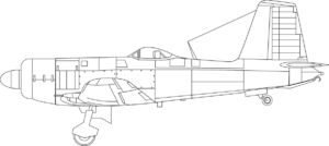 Orthographically projected diagram of the Firebrand Mk.IV.
