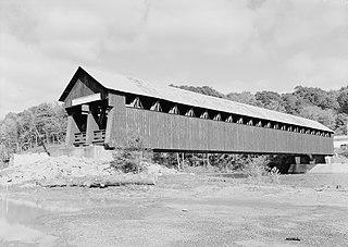 Old Blenheim Bridge Wooden covered bridge that spanned Schoharie Creek in North Blenheim, New York, United States