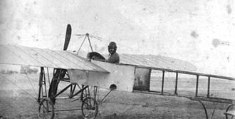 Bulgarian Air Force - Simon Petrov in a Bleriot XI 1912