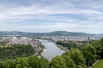 Linz - The central part of the town.