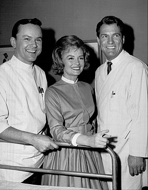 The Donna Reed Show - Bob Crane as Dr. Dave Kelsey with Donna and Alex Stone