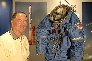 Robert Crippen - Crippen with a MOL spacesuit
