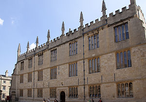 Bodleian Libraries - View of the main Bodleian Library building of the University of Oxford