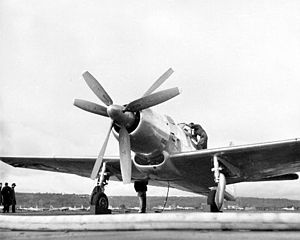 Boeing XF8B - XF8B-1 illustrating the contra-rotating propellers