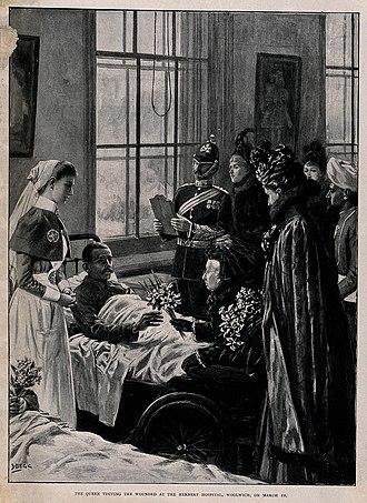 Royal Herbert Hospital - Queen Victoria's visit in March 1900