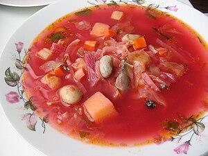 Borscht - Ukrainian borscht with beans