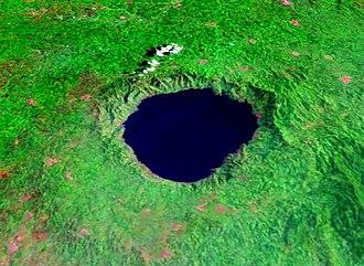 Lake Bosumtwi - Image: Bosumtwi Worldwind SW