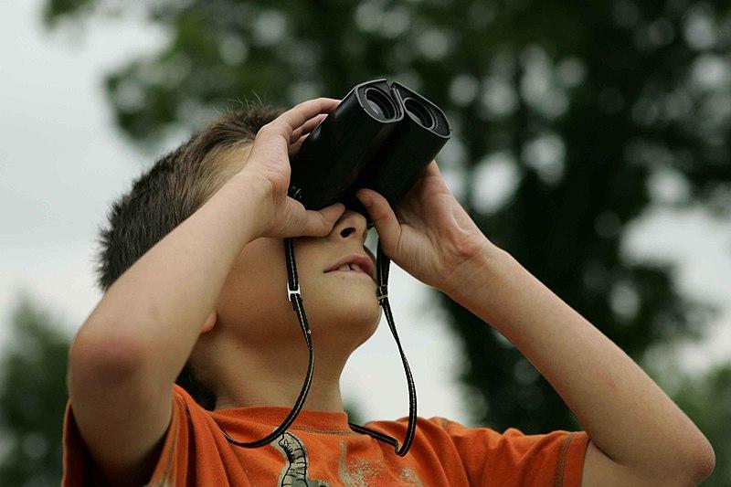 File:Boy watching with binoculars.jpg