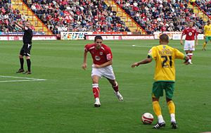 Ryan Bertrand - Bertrand (right) playing for Norwich City in 2008