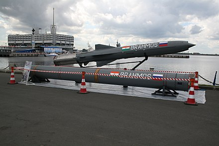 The Indian Navy's BrahMos supersonic anti-ship cruise missile Brahmos imds.jpg