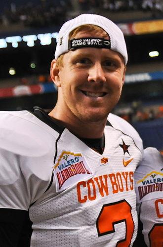 Brandon Weeden - Weeden in 2010 with Oklahoma State