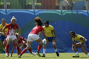 Great Britain women's national rugby sevens team - Britain vs Brazil at the 2016 Olympics