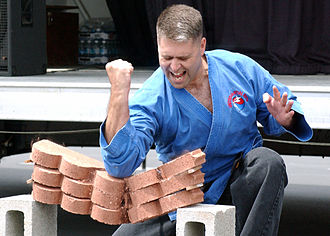 Breaking (martial arts) - A brick-breaking demonstration