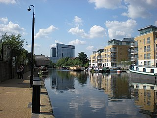 River Brent River in London, England