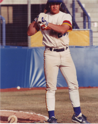 Bret Boone - Boone as a member of the AAA Calgary Cannons in 1992.