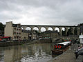 Bridges over Rance river in Dinan (France).jpg