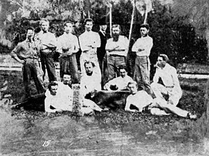 History of soccer in Brisbane, Queensland - Image: Brisbane soccer team c 1870