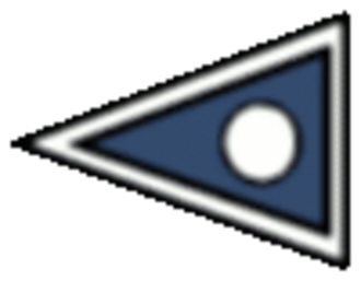 1st Infantry Division (United Kingdom) - 1st Division sign used in World War I. The international signal pennant for '1'.