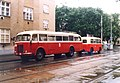 Brno, Husovice, Nováčkova, BMUE 2004, Škoda 706 RO č. 22 a Karosa B 40 č. 48.jpg