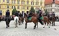 Brno, náměstí Svobody - mezinárodní policejní mistrovství ČR v jízdě na koni - příjezd a defilé soutěžních ekvip obr21.jpg