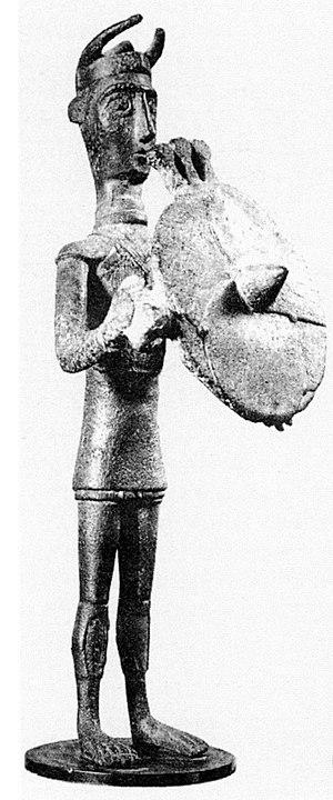 Nuragic bronze statuettes - Image: Bronzetto nuragico Sulcis