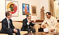 Bruno Racine meeting the Minister of State for Culture (Independent Charge), Tourism (Independent Charge) and Civil Aviation, Dr. Mahesh Sharma, in New Delhi on October 26, 2015.jpg