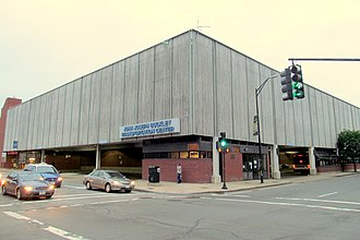 Merrimack Valley Regional Transit Authority - Buckley Transportation Center in downtown Lawrence is the hub of a number of MVRTA routes.