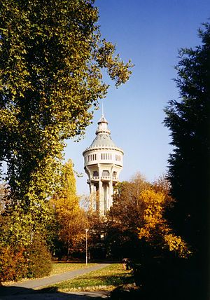 Margaret Island - The Water Tower, a famous landmark on Margaret Island.
