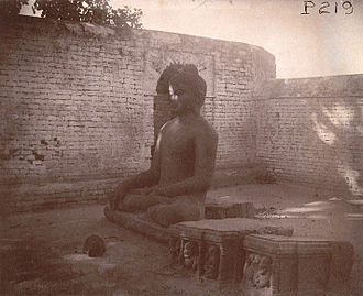 Nalanda - A statue of Gautama Buddha at Nalanda in 1895.