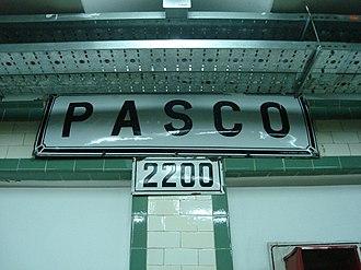Pasco (Buenos Aires Underground) - Image: Buenos Aires Subte Pasco 3