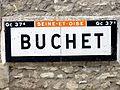 Buhy (95), hameau de Buchet, plaque Michelin de 1932.jpg