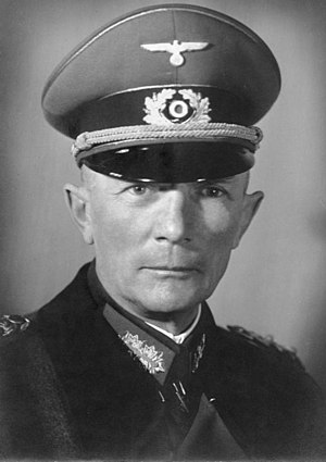 Field Marshal Fedor von Bock wearing the Schirmmütze - World War II German uniform