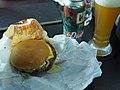 Burger King Sriracha hamburger and La Quince Crisp Pale Ale.jpg