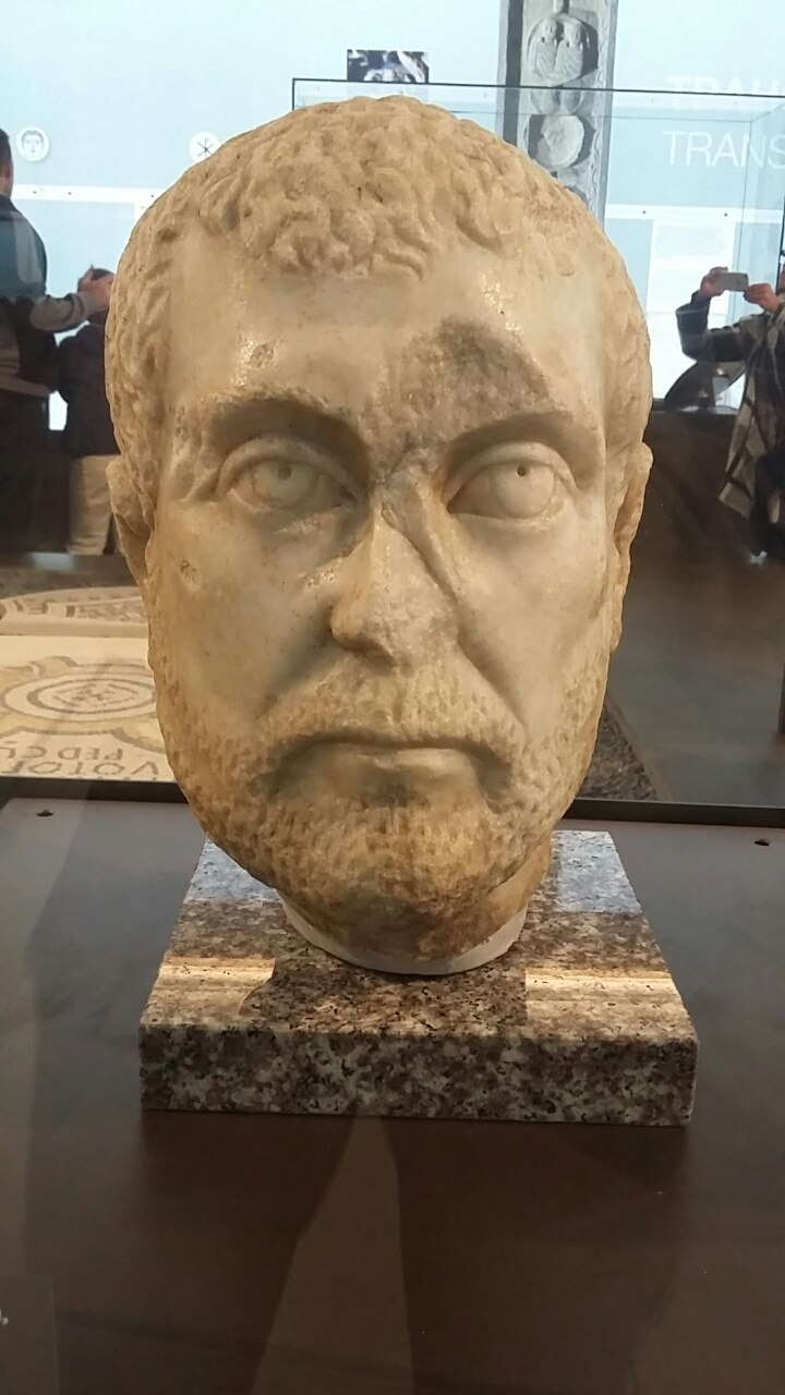 Bust of Diocletian at the National Museum of Serbia