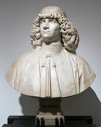 Giovanni Bellini - Bust of Giovanni Bellini in Venice