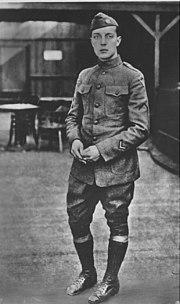 Buster Keaton jako żołnierz w czasie I wojny światowej