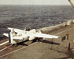 C-1A Trader on USS Intrepid (CVS-11) 1967.jpg