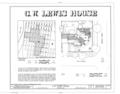 C. W. Lewis House, 27 South Seventh Street, Fernandina Beach, Nassau County, FL HABS FLA,45-FERB,5- (sheet 1 of 6).png