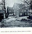CHRONIK DER FAMILIE FLENDER, Ludwig Voss (Verlag), Düsseldorf 1900, Vordere Ansicht des Hauses von Peter Johannes Flender an der Dörpe.jpg