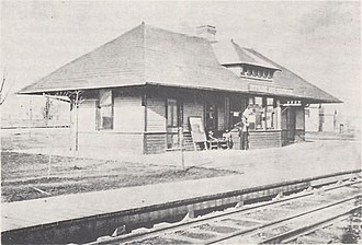 Cincinnati, Lebanon and Northern Railway - Hopkins Avenue depot in Norwood, early 1890s
