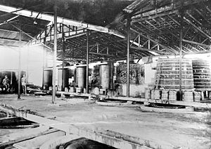 "Arrack - Batavian arrack factory ""Aparak"" in 1948"